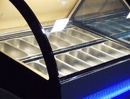 580L No Frost Fast Cooling Ice Cream Display Freezer , -24℃ Cream Fridge Freezer 1800*968*1386mm