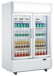630L veritcal double door defrost direct cooling display beverage cooler/softdrink cooler/beverage showcase