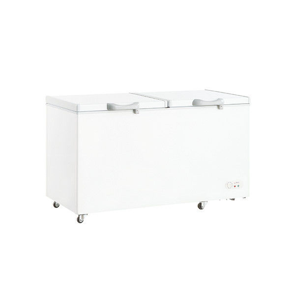 528L Commercial And Home Wholesale Top Open Double Solid Door Chest Freezer, Deep Freezer For Meat
