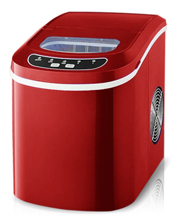 Red Automatic Ice Maker Machine , Modular Mini Ice Machine Static Cooling