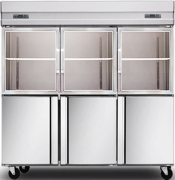 1600L Glass Door Commercial Kitchen Refrigerator , Stainless Steel Kitchen Appliances